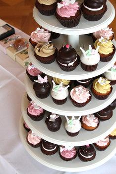 来場者には可愛らしいカップケーキが振る舞われた。