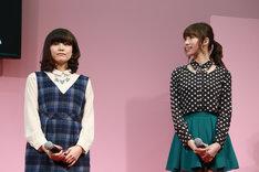 (左から)金元寿子、小清水亜美。