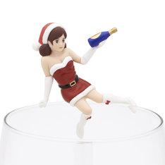 「コップのフチ子 クリスマス」の「ワインのフチ子」(c)タナカカツキ / KITAN CLUB