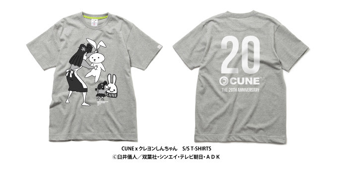 CUNE×クレヨンしんちゃん S/S T-SHIRTS