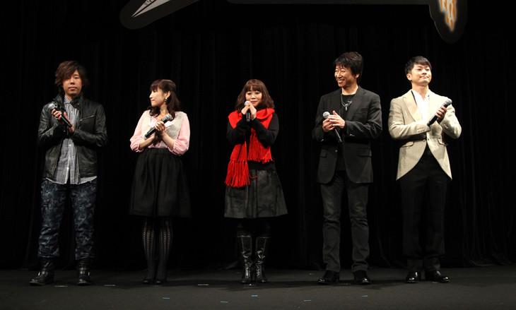 (左から)日野聡、中村千絵、竹内順子、井上和彦、福山潤