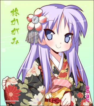 「らき☆すた複製ミニ色紙」は全4種。画像は柊かがみのもの。(c)美水かがみ/KADOKAWA