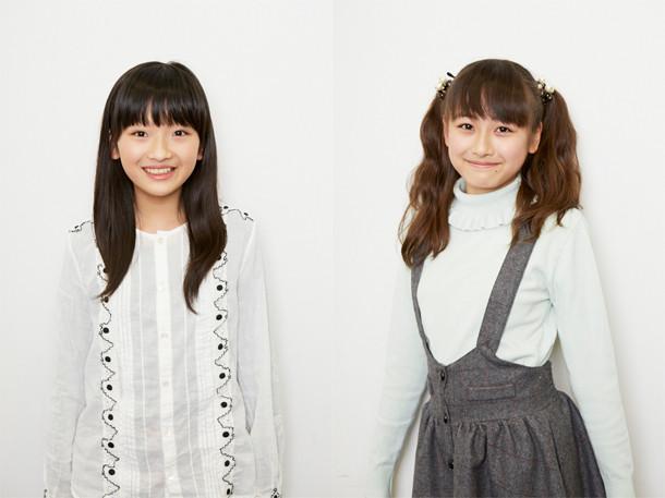 奥田こころ(左)と小椋梨央。撮影/亀田亮