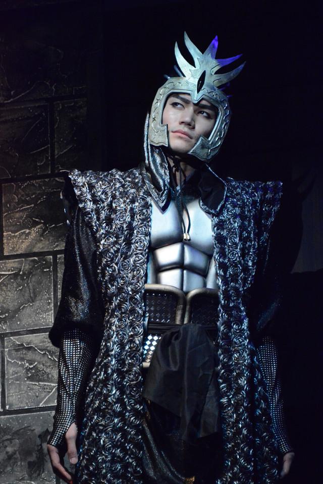 舞台「龍狼伝」公開稽古より、仲達(山碕薫太)。