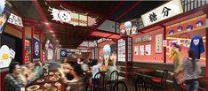 「カフェ&バー CHARACRO feat. 銀魂」の店内イメージ画像。(c)空知英秋/集英社・テレビ東京・電通・BNP・アニプレックス