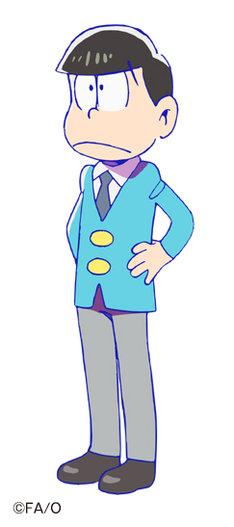 神谷浩史演じる松野家の三男・チョロ松。6つ子の中では唯一の常識人なのでツッコミ役になることが多い。(c)赤塚不二夫/おそ松さん製作委員会