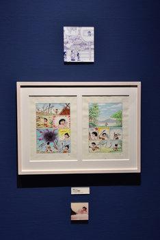 原画展「のび太の日本誕生と時空の旅」の展示原画。(c)Fujiko-Pro