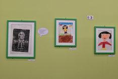 蒼樹うめが幼少の頃に手がけた版画やイラスト。