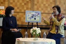 倉田淳(左)、萩尾望都(右)。