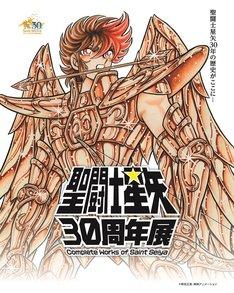 「聖闘士星矢30周年展 Complete Works of Saint Seiya」のビジュアル。