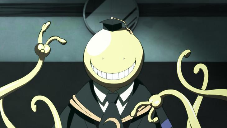 アニメ「暗殺教室」第1期の場面写真。