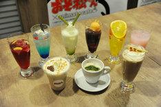 「おそ松さん」コラボカフェにて提供されるドリンク。
