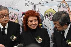 左からさいとう・たかを、野沢雅子、松田哲夫。