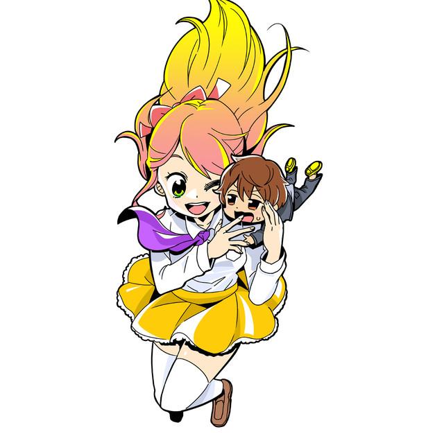 「ポプテピピック」再開に向けたフェイク作品であることが明らかになった「☆色ガールドロップ」カット。
