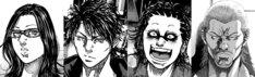 (左から)キイヌ、倉神竜夫、アカ、シマウマ。(c)小幡文生/少年画報社