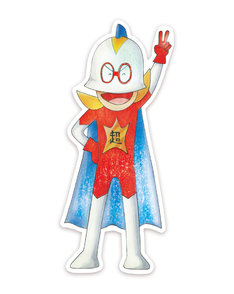 「超ヒーロー伝説バックマン」のステッカー。