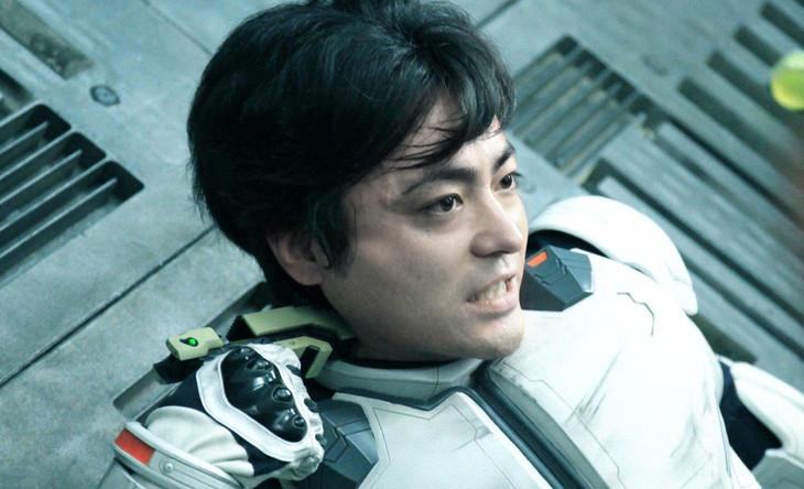 「テラフォーマーズ」より、山田孝之演じる蛭間一郎。