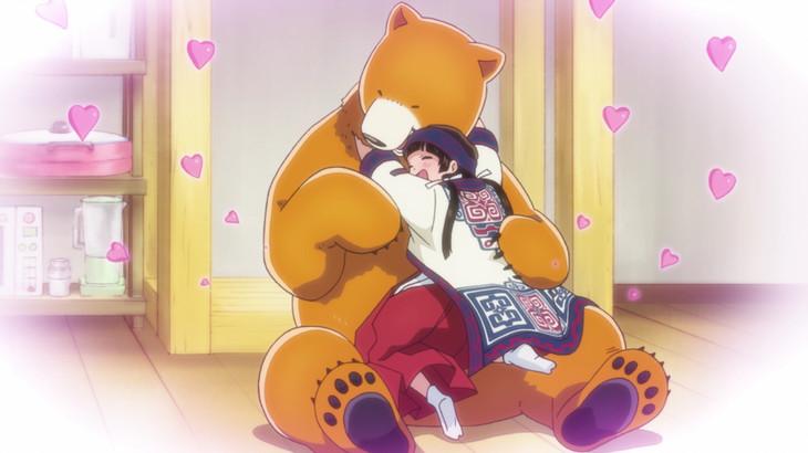 テレビアニメ「くまみこ」PV第2弾の場面写真。