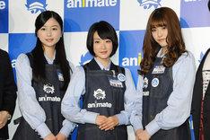 (左から)乃木坂46の佐々木琴子、生駒里奈、松村沙友理。