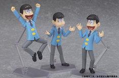 (左から)figma 松野十四松、figma 松野チョロ松、figma 松野おそ松
