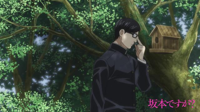 アニメ「坂本ですが?」第2話より。