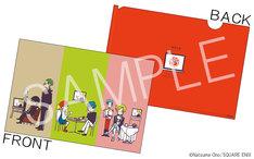 「ACCA13区監察課」の特製クリアファイル。テレビアニメ化を記念し、各キャラクターがテレビを観ているキュートなイラスト入りだ。(c)Natsume Ono/SQUARE ENIX