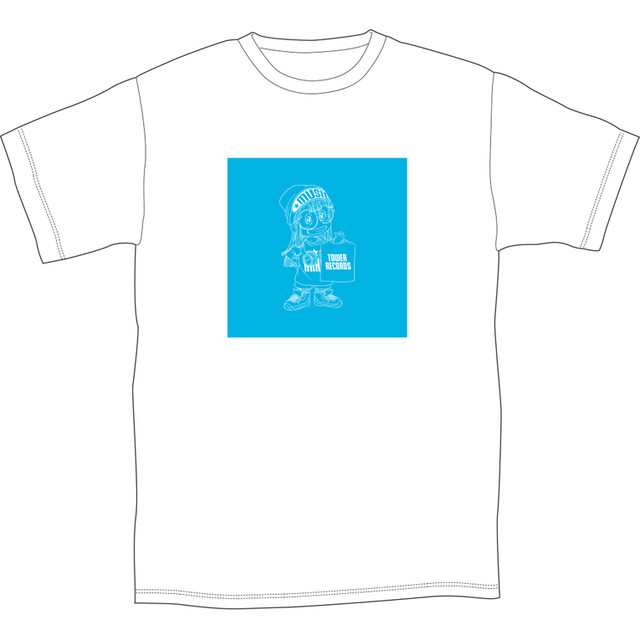 「Dr.スランプ アラレちゃん × TOWER RECORDS CAFE T-shirt」(Light blue)