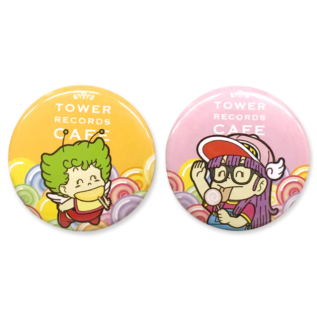 「Dr.スランプ アラレちゃん × TOWER RECORDS CAFE 缶バッジ 2個セット」