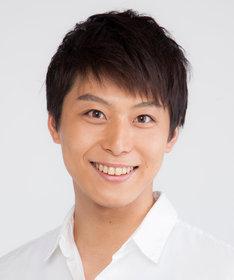 ドイツ役を演じる上田悠介。