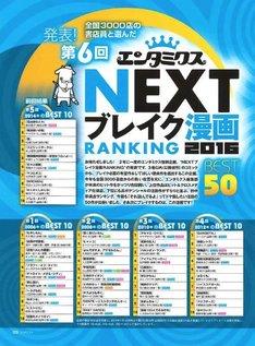 第6回「NEXTブレイク漫画RANKING BEST50」の扉ページ。