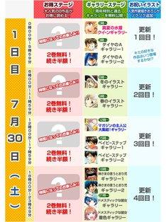 「マガポケ1周年フェス」1日目のスケジュール。