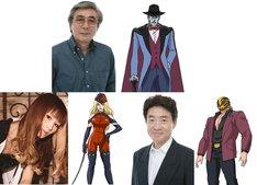 上段左から柴田秀勝と柴田が演じるミスターX。下段左から小林ゆう、小林が演じるミスX、島田敏、島田が演じるイエローデビル。
