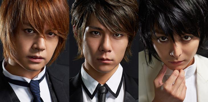 「デスノート THE MUSICAL」より、左から夜神月役の浦井健治、柿澤勇人、L役の小池徹平。