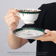 「ジョジョの奇妙な冒険×Noritake ティーカップ&ソーサーセット ~岸辺露伴~」使用イメージ