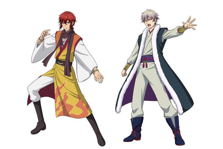 左から朱(CV:蒼井翔太)と殿(CV:小野大輔)。