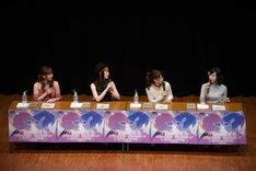 トークイベントの様子。左から左から加藤英美里、小松未可子、芹澤優、佐倉綾音。