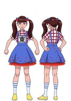 東理紗の設定画。
