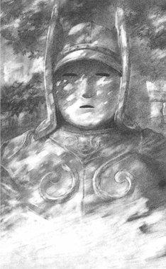 沙村広明による「大魔神」の挿絵。