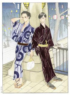 「昭和元禄落語心中」のカラーイラスト。