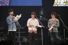 「弱虫ペダル NEW GENERATION」のキャスト陣。左から鳥海浩輔、山下大輝、阿部敦。