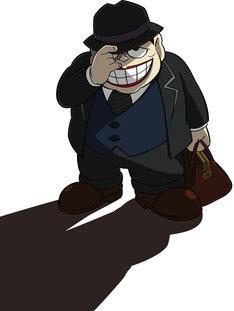 ニュース記事ランキング3位より、テレビアニメ「笑ゥせぇるすまんNEW」の喪黒福造。(c)藤子スタジオ/笑ゥせぇるすまんNEW製作委員会