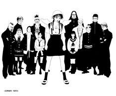 冨樫義博による戸川純 with Vampilliaのアーティストイラスト。