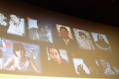 登壇者たちの20歳頃の写真。綾野剛の写真は、上段左から2番目。