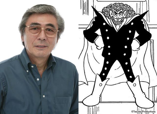 左から柴田秀勝、ゴアのイラスト(オリジナル版)。