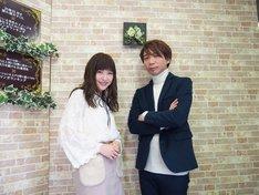 「マンガは世界を救う!」第4回の出演者。左から神田沙也加、諏訪部順一。
