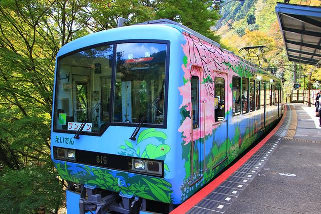 叡山電車「こもれび」外観の写真。