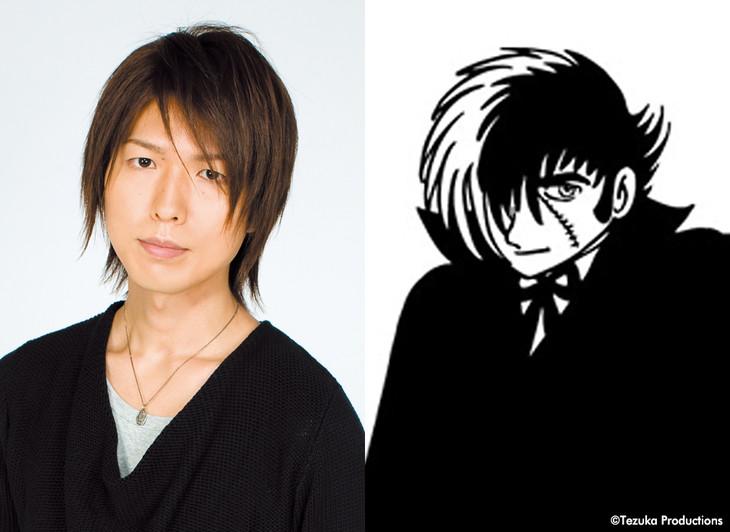 左から神谷浩史、ブラック・ジャックのイラスト(オリジナル版)。