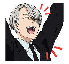 アニメ「ユーリ!!! on ICE」LINEスタンプ第2弾のイメージ。