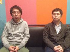ルノアール兄弟。左が作画担当・上田優作、右が原作担当・左近洋一郎。