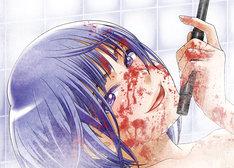 「過激血煙りお風呂ポスター」の一部分。絵柄の全体図は実物で確認しよう。